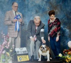 CHEROKEE LEGEND BERNADETTE Bulldog Club of New Jersey Specialty Winners Bitch Best of Winners