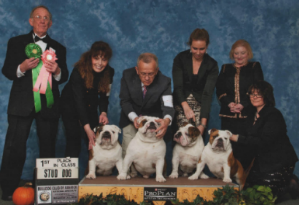 GCH. CHEROKEE ORIGIN JUST JOHNNY Bulldog Club of America National Specialty First in Stud Dog
