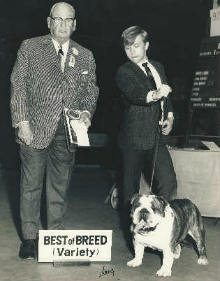 CH. CHEROKEE MORGAN with Cody Sickle winning Best of Breed at the Westminster Kennel Club in 1969