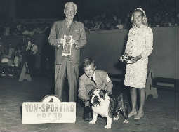 CH. CHEROKEE MORGAN winning Group First at the International Kennel Club of Chicago 1967