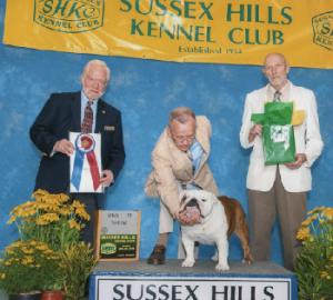 GCH. CHEROKEE LEGEND COWBOY Sussex Hills Kennel Club BEST IN SHOW