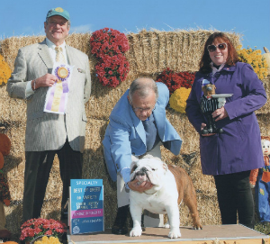 GCH. CHEROKEE LEGEND COWBOY at Bulldog Club of Philadelphia Specialty Dog Show winning Best Of Breed
